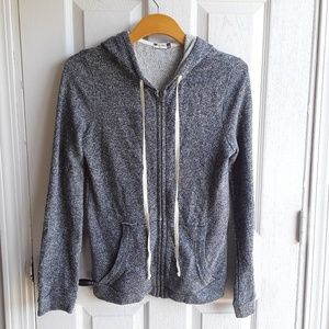Kut from the Kloth Speckled Grey Classic Hoodie S
